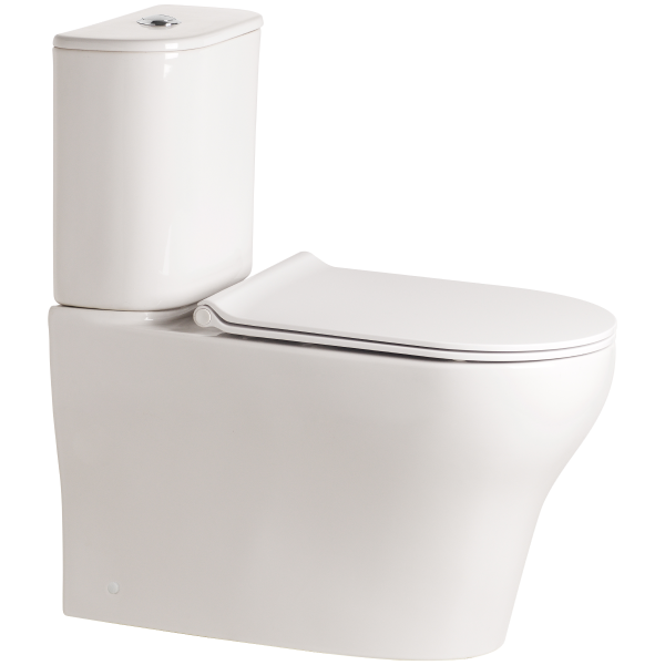 Cygnet Round Hygiene Rimless Close Coupled Back To Wall Back Inlet Toilet Suite