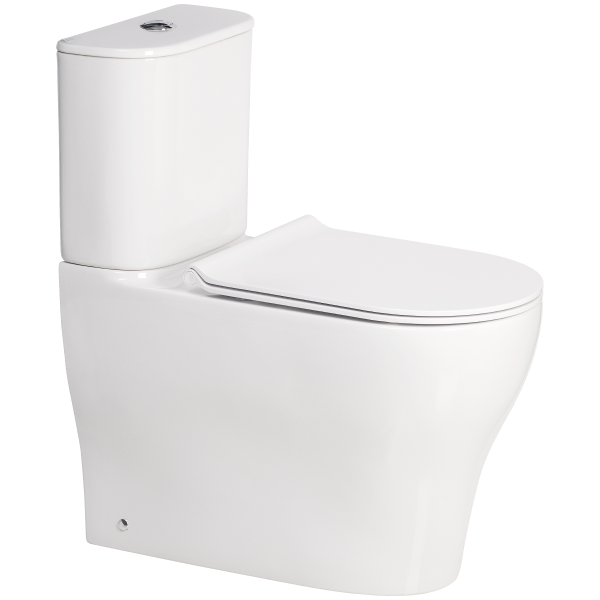 Cygnet Round Overheight Hygiene Rimless Close Coupled Back To Wall Back Inlet Toilet Suite