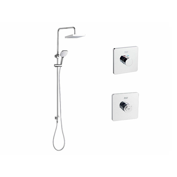 EasySET Thermo Controller Cygnet Square Twin Rail Shower