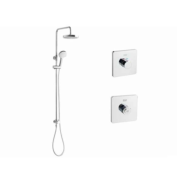 EasySET Thermo Controller Cygnet Round Twin Rail Shower