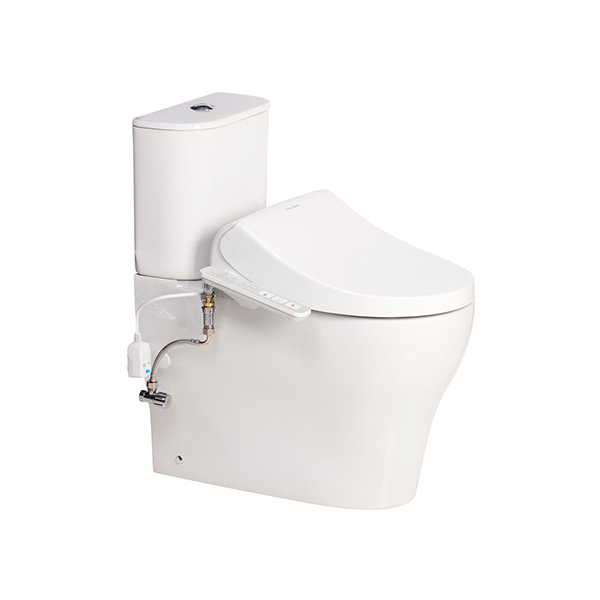 Cygnet HygieneRim Close Coupled Back to Wall Bottom Inlet Suite with SpaLet E-Bidet Seat
