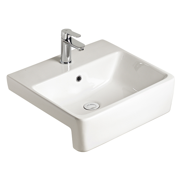 Heron Semi-Recessed Basin with 1 Taphole