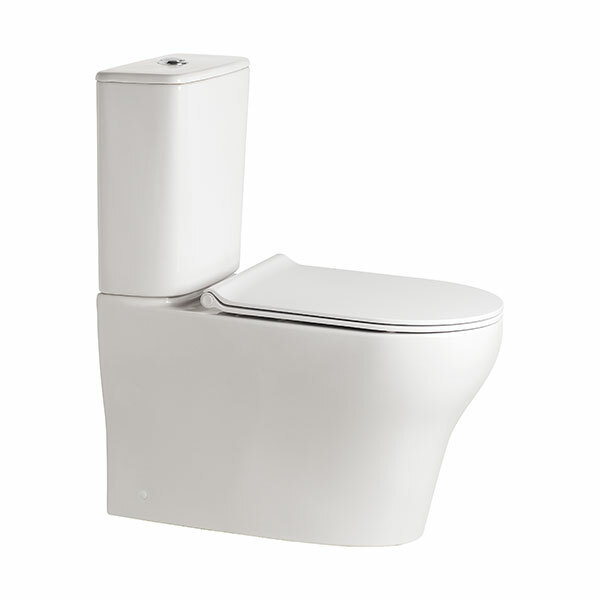 Cygnet Square Hygiene Rimless Close Coupled Back To Wall Back Inlet Toilet Suite