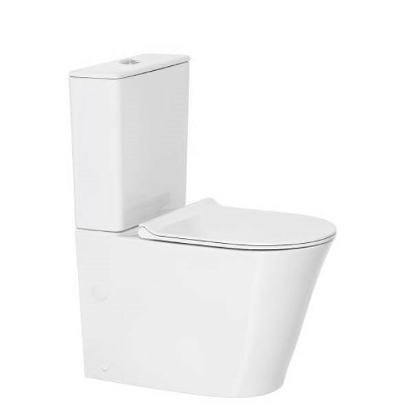 Heron Hygiene Rim Bottom Inlet Close Coupled Back to Wall Toilet Suite