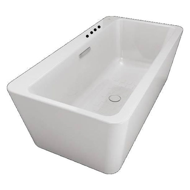 Acacia Evolution 1 7 M Acrylic Seamless Freestanding Tub with Faucet Installation Holes image2