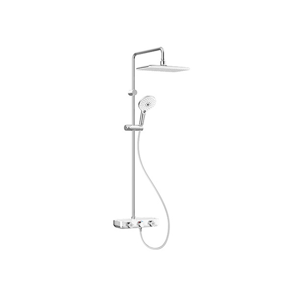 EasySet Exposed Shower Auto Temperature Mixer with Integrated Rainshower Kit