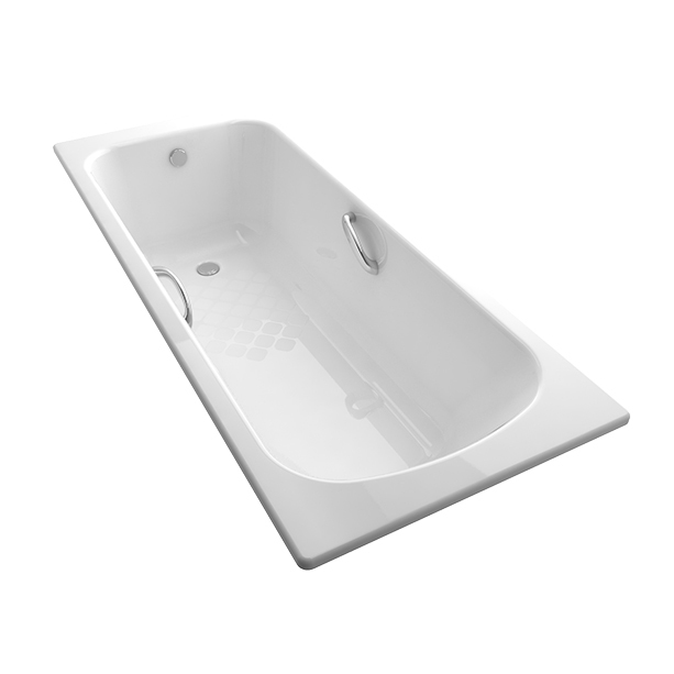 Milano 1.7M Cast Iron Drop-in Tub (with Handles)