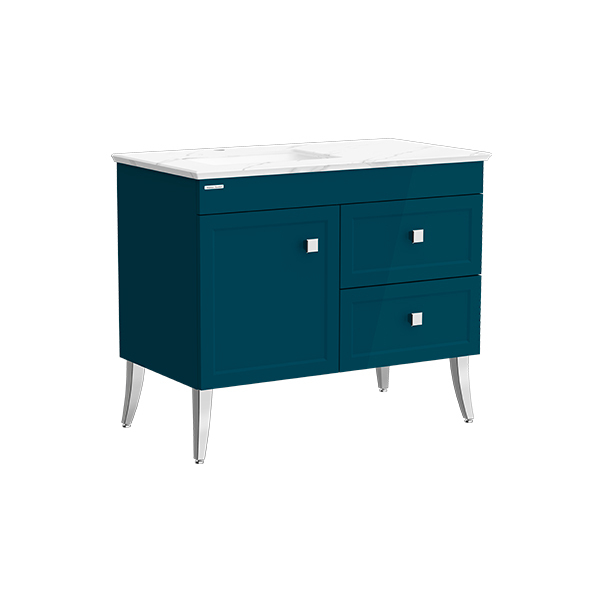 Classic Chic FSD 1000mm 1 door 2 drawer vanity(Midnight Blue one hole UCT)
