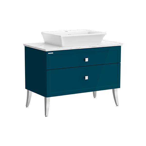 Classic Chic FSD 1000mm 2 drawer vanity(Midnight Blue one hole vessel)