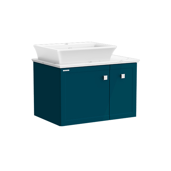 Classic Chic WH 800mm 1 door 1 drawer vanity(Midnight Blue one hole vessel)