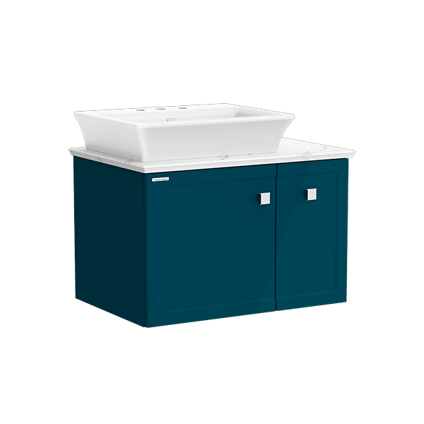 Classic Chic WH 800mm 1 door 1 drawer vanity(Midnight Blue 8' hole vessel)