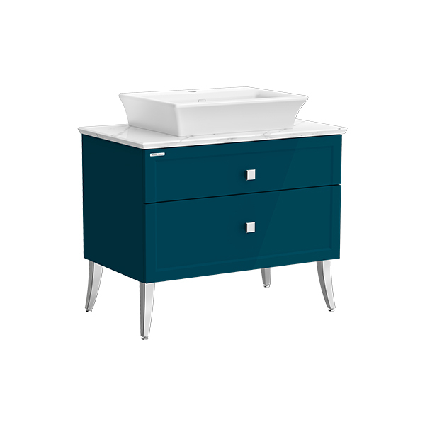 Classic Chic FSD 900mm 2 drawer vanity(Midnight Blue one hole vessel)