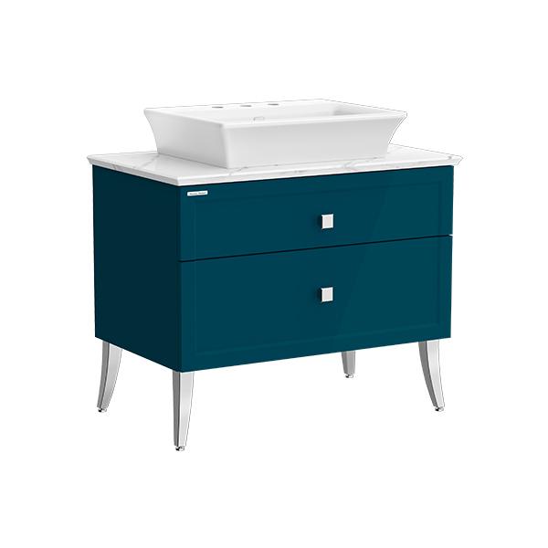Classic Chic FSD 900mm 2 drawer vanity(Midnight Blue 8' hole vessel)