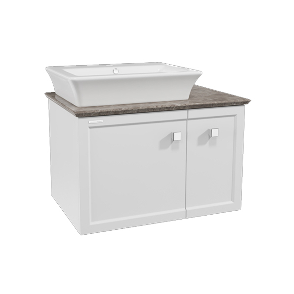 Classic Chic WH 800mm 1 door 1 drawer vanity(Picket White one hole vessel)