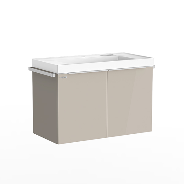 City WH 900mm 2 drawer vanity(Cathedral Gray/one hole)