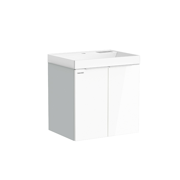 City WH 600mm 1 door 1 drawer vanity (Picket White,side Silver Lining, R door,one hole)