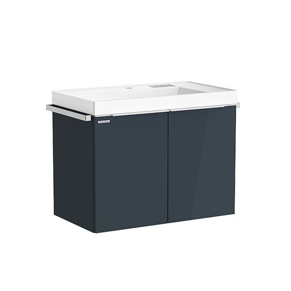 City WH 800mm 1 door 1 drawer vanity(Shadow Gray L door,one hole)