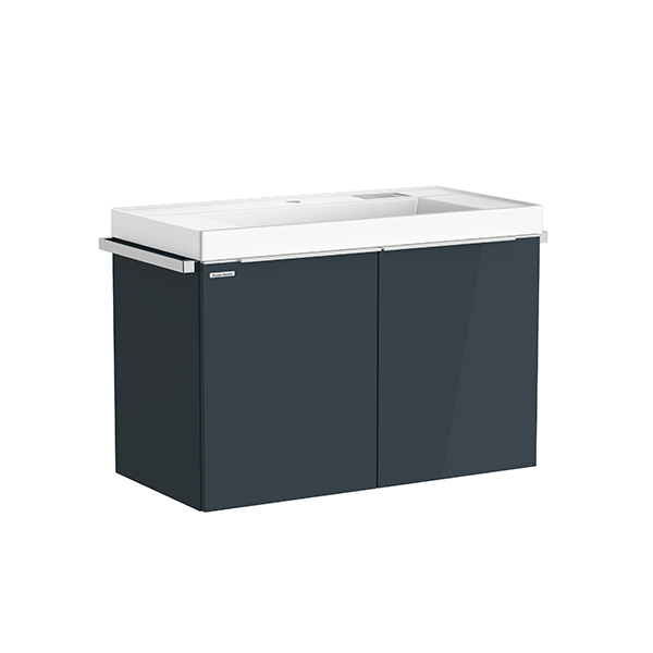 City WH 900mm 2 drawer vanity(Shadow Gray /one hole)