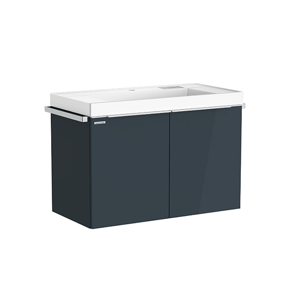 City WH 900mm 2 drawer vanity(Shadow Gray, no hole)