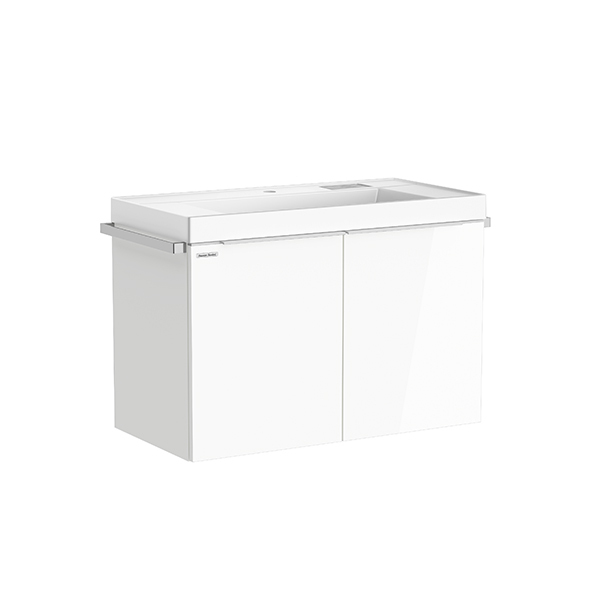 City WH 900mm 2 drawer vanity(Picket White, no hole)
