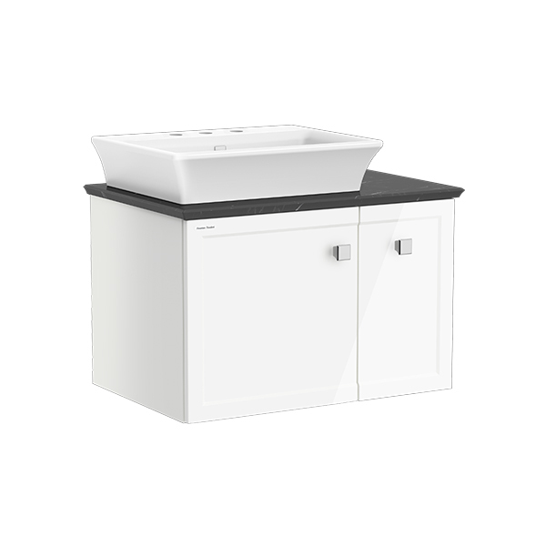 Classic Chic WH 800mm 1 door 1 drawer vanity(Picket White 8' hole vesse)