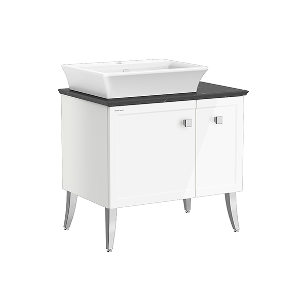 Classic Chic FSD 800mm 1 door 1 drawer vanity(Picket White one hole vessel )