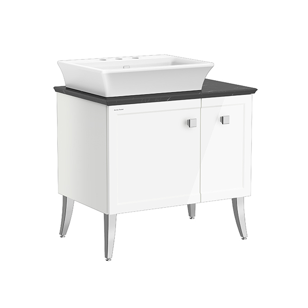 Classic Chic FSD 800mm 1 door 1 drawer vanity(Picket White 8' hole vessel )