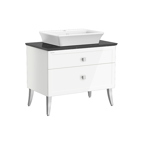 Classic Chic FSD 900mm 2 drawer vanity(Picket White one hole vessel)