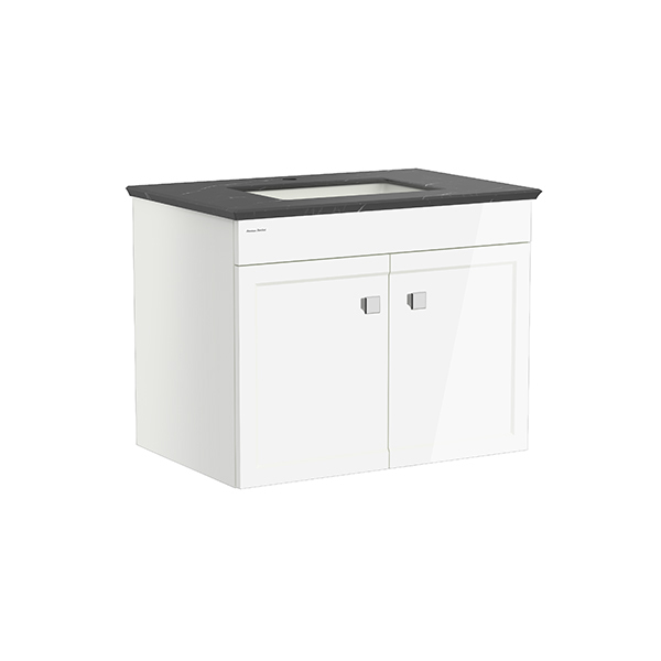 Classic Chic WH 800mm 2 door vanity(Picket White one hole UCT)