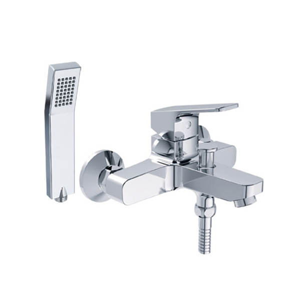 Concept Square Exposed Bath & Shower Mixer with Shower Kit