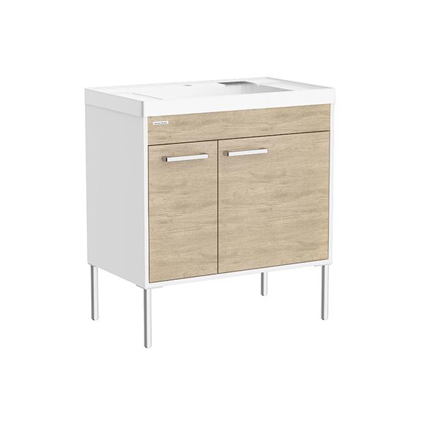 Contempo FSD 800mm 1 door 1 drawer vanity(Alpine Wood,one hole)