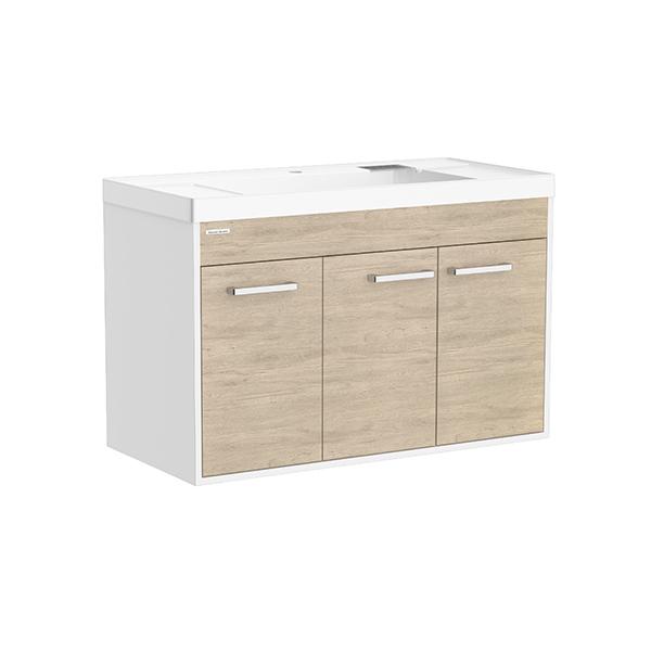Contempo WH 1000mm 2 door 1 drawer vanity(Alpine Wood,one hole)