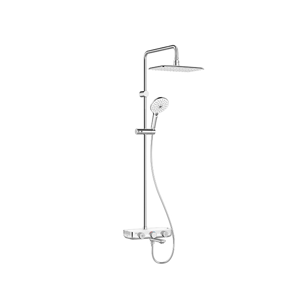EasySET Exposed Auto Temperature Mixer with Integrated Rainshower System 3-way