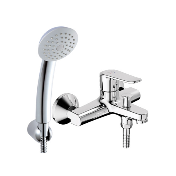 Neo Modern Exposed Bath & Shower Mixer with Shower Kit
