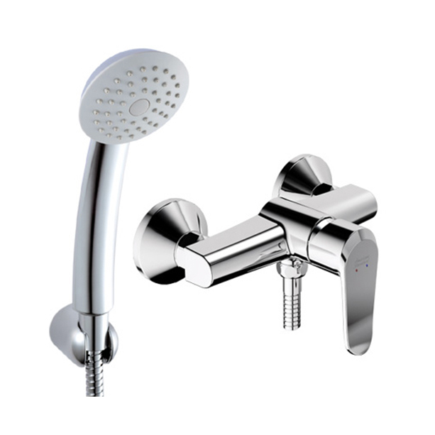 Neo Modern Exposed Shower Mixer with Shower Kit