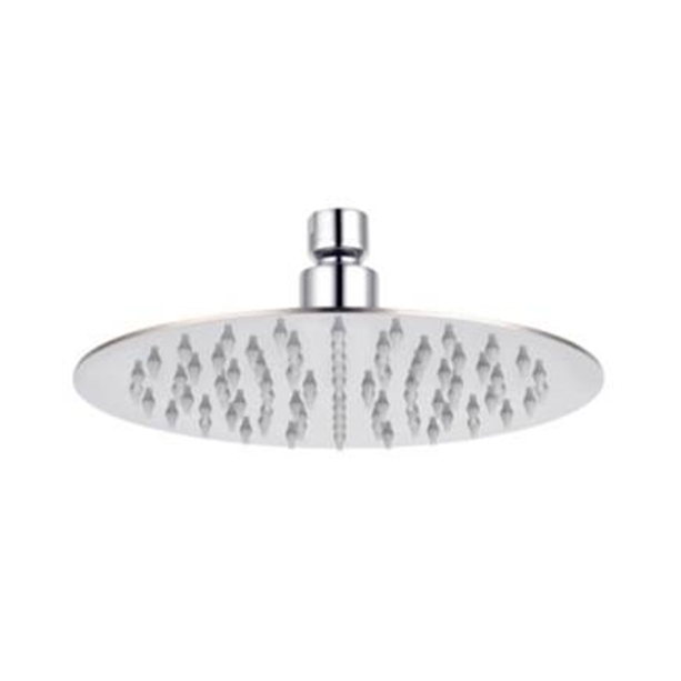 "10"" Round Stainless Steel Airnegize Rain Shower Head (w/o Shower Arm)"