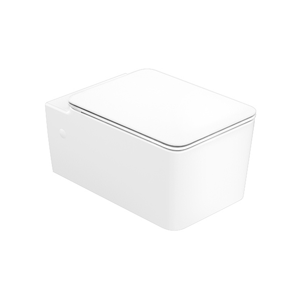 Acacia SupaSleek Square WH 3/4.5lpf WH Toilet bowl + Seat Cover