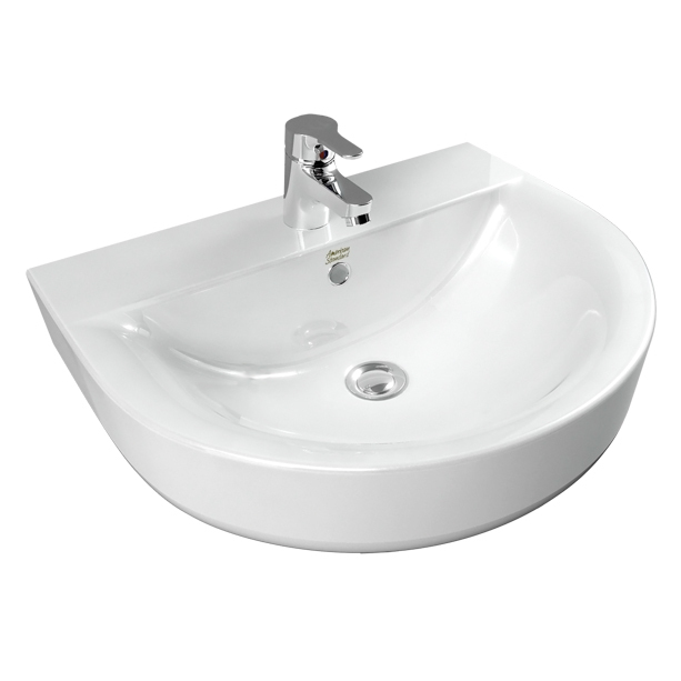 Concept D-shape 550mm Wall Hung Wash Basin 2