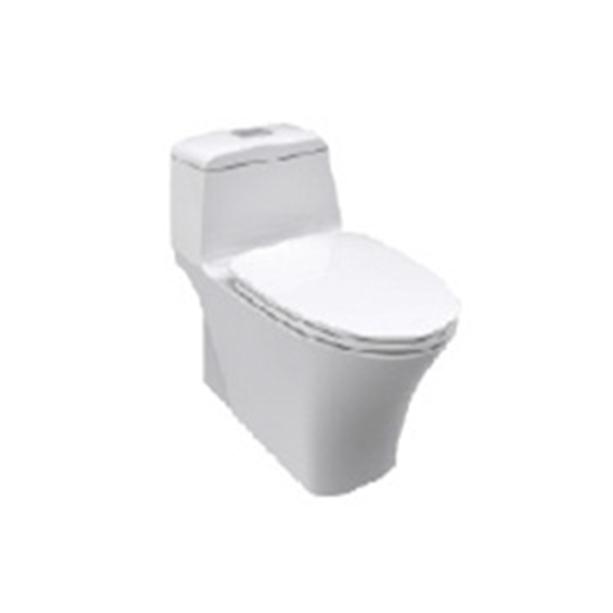 La Moda Water-Saving One-Piece Toilet + La Moda Slow Closing Seat Cover