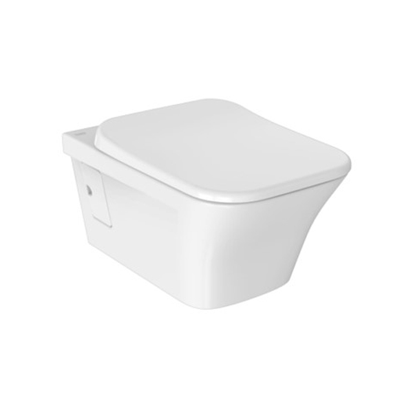 Kastello Square WH toilet Bowl + Seat Cover