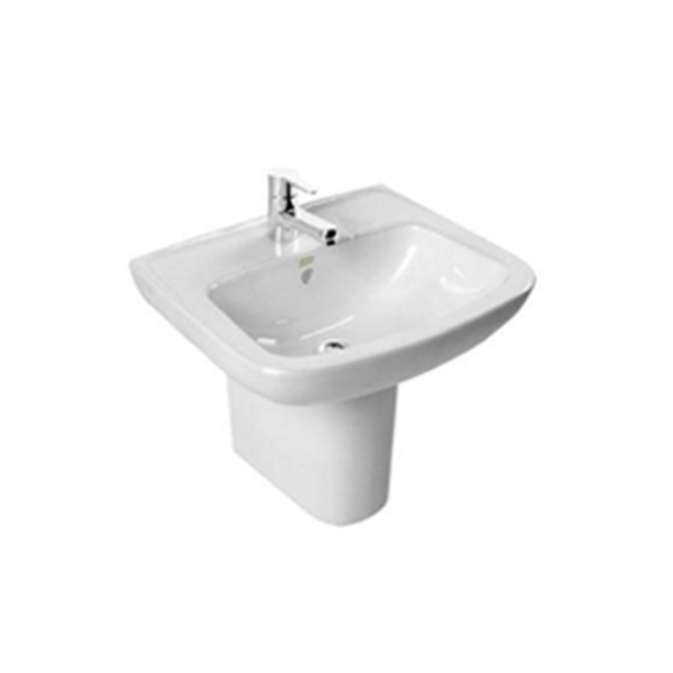 Simple Semi Pedestal Wash Basin 430mm