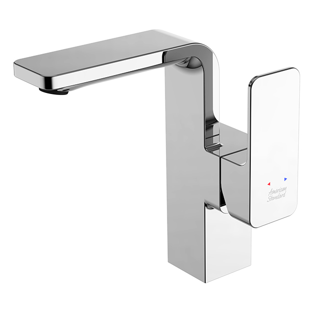 Acacia Evolution Basin Mixer (Side Lever) With Pop Up Drain & Stop Valves