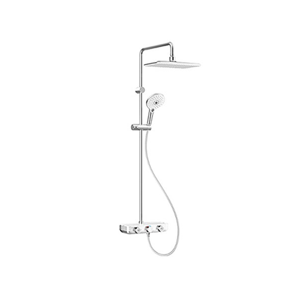 EasySET Exposed Shower Auto Temperature Mixer with Integrated Rain shower Kit