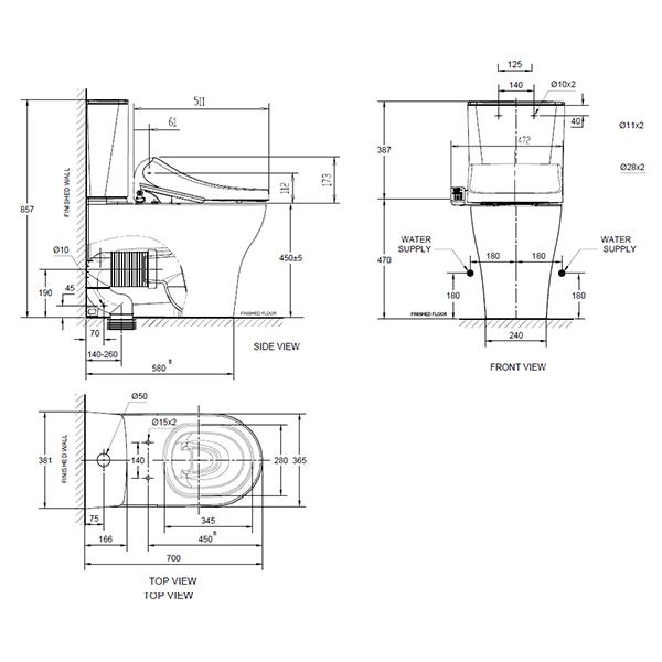 12774 10 line drawing