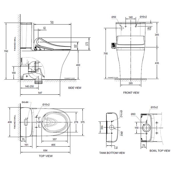 15055 10 line drawing