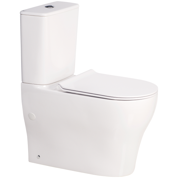 Cygnet Square Overheight Hygiene Rimless Close Coupled Back To Wall Bottom Inlet Toilet Suite
