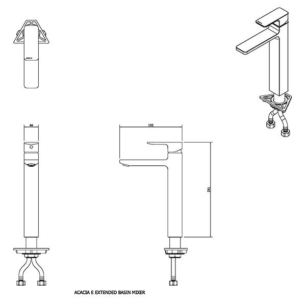9508368 Acacia E Extended Basin Mixer
