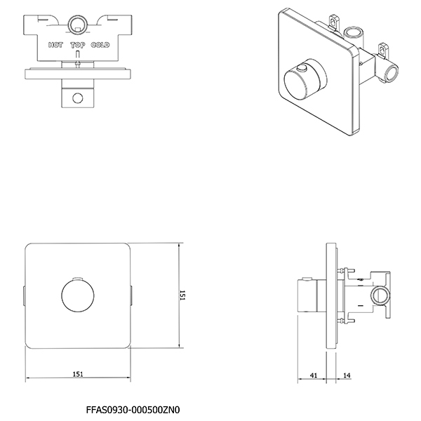 9508664 AS Thermostatic Mixer CP