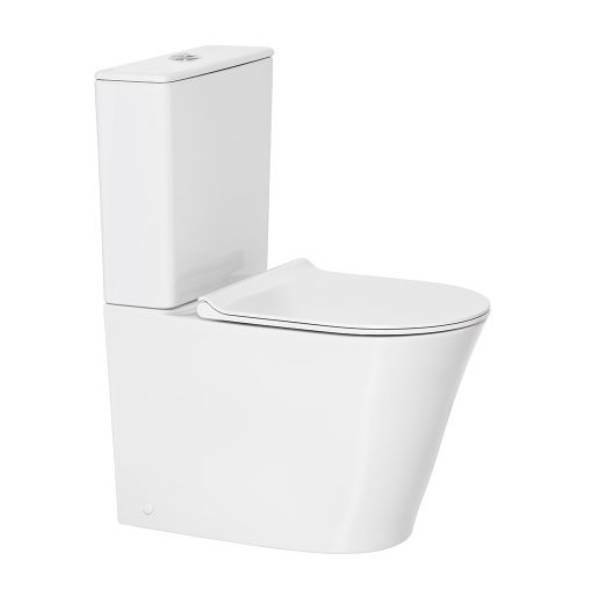 Heron Hygiene Rim Back Inlet Close Coupled Back to Wall Toilet Suite