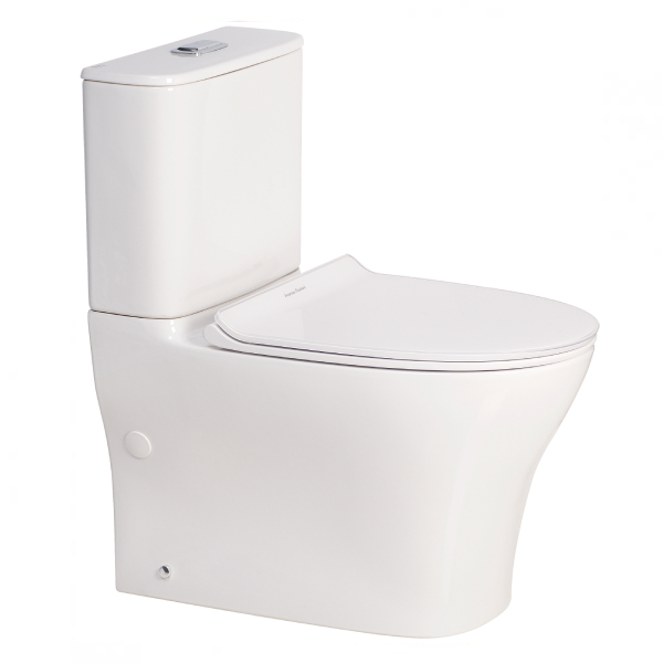 Signature Hygiene Rim Close Coupled Back to Wall Bottom Inlet Toilet Suite
